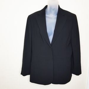 Ann Taylor Black Button Sleek Blazer Sz 12